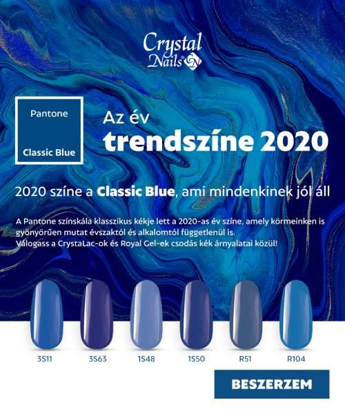 2020 színe a CLASSIC BLUE